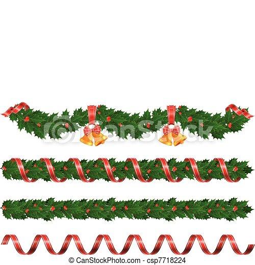 guirnaldas navidad vector - Guirnaldas De Navidad