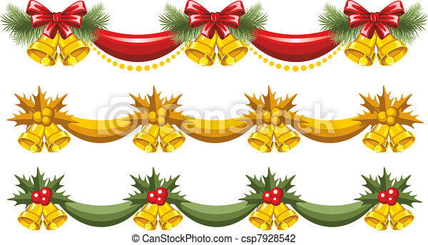 guirnaldas navidad vector - Guirnalda De Navidad