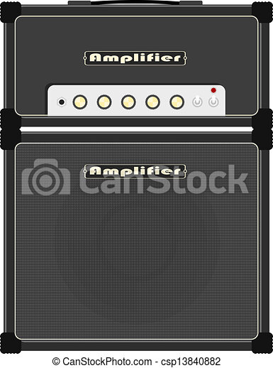 Guitar amplifier, with a big speaker.