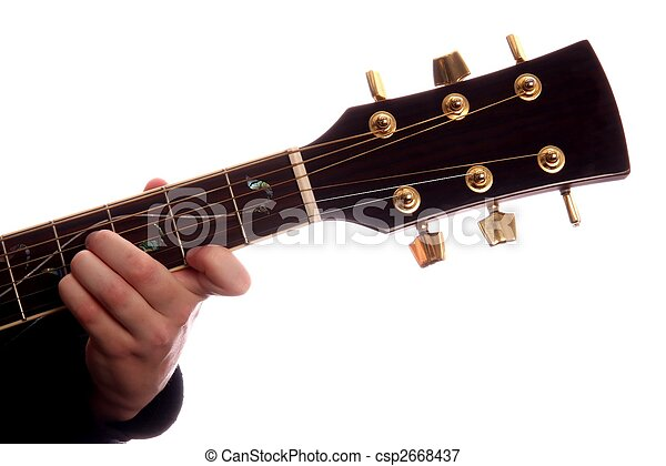 Guitar Chord B Major Acoustic Guitar With Persons Fingers