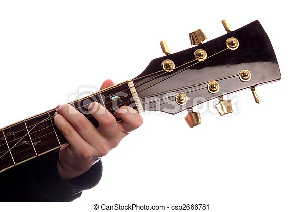 Guitar Chord C Major Acoustic Guitar With Persons Fingers