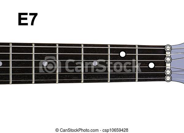 Guitar chords diagrams - e7. guitar chords diagrams series.