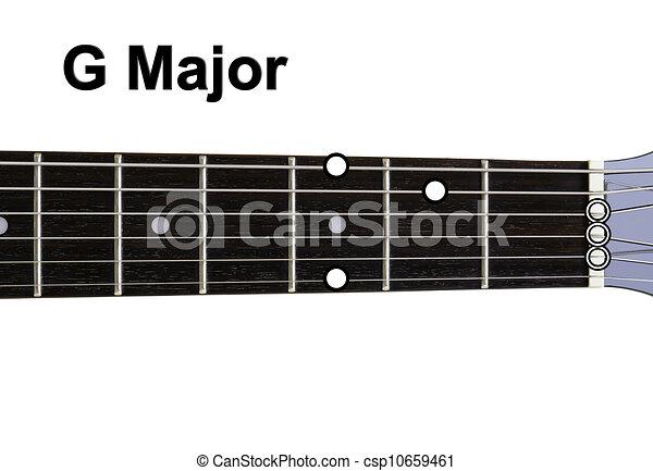 Guitar chords diagrams - g major. guitar chords diagrams series.