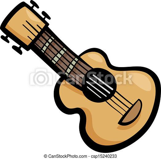 guitar clip art cartoon illustration - csp15240233
