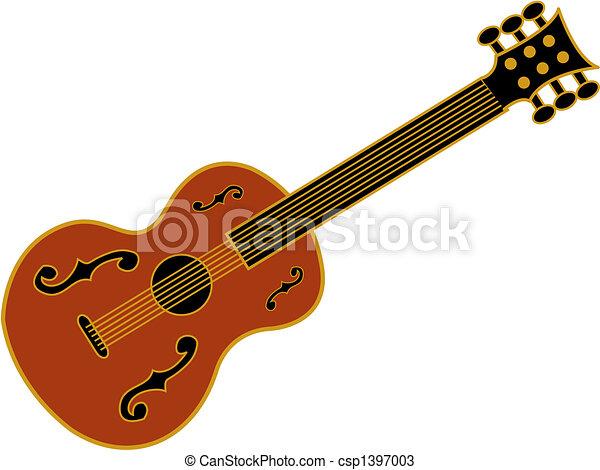 Guitar clip art - csp1397003