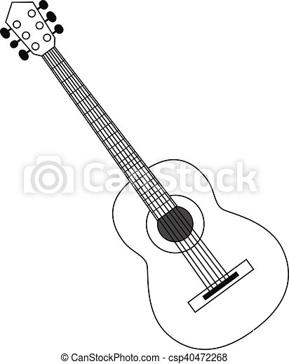 guitar contour black white vector illustration circuit clip art rh canstockphoto com