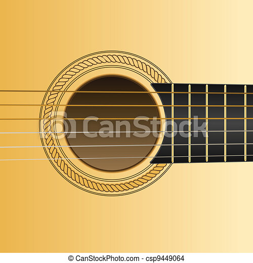guitar detail - csp9449064