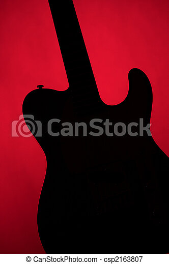 Guitar Electric Gold Isolated On White - csp2163807