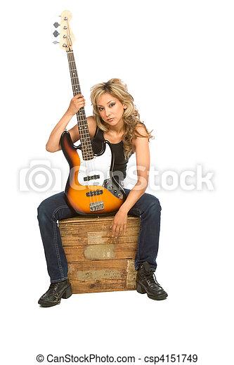 Guitar girl - csp4151749
