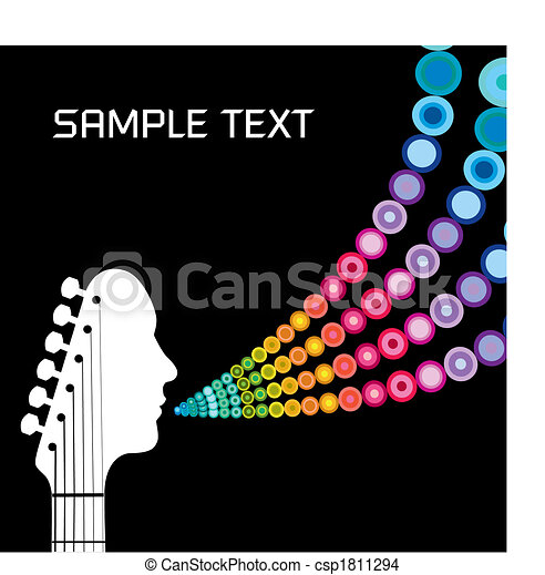 Guitar headstock man - csp1811294