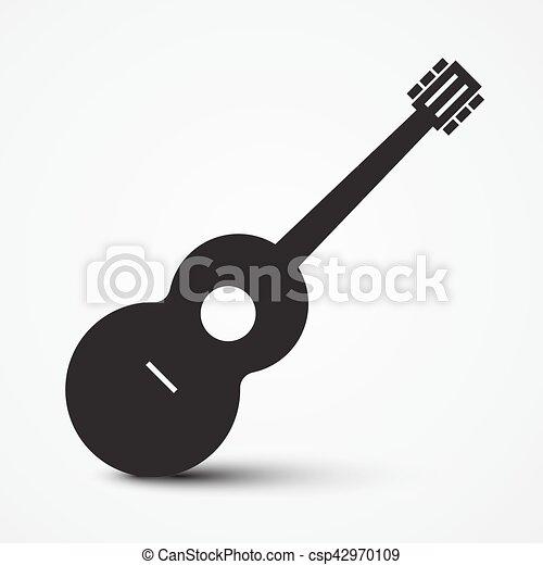 Guitar Icon Simple Vector Musical Instrument Symbol