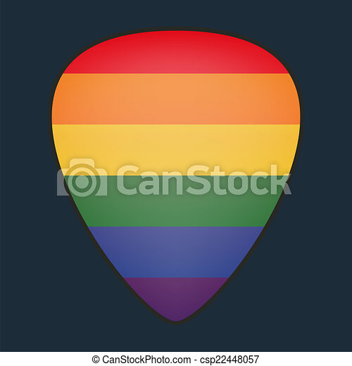 Guitar Pick With A Pride Flag Ilration Of An Clipart