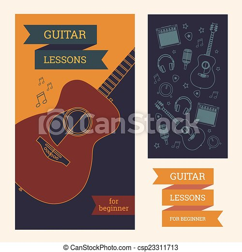 Guitar Poster Template On Lessons Pattern Of