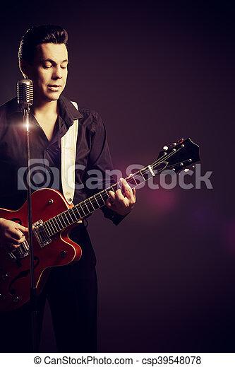 guitar retro - csp39548078