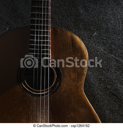 Guitar still life - csp1264162