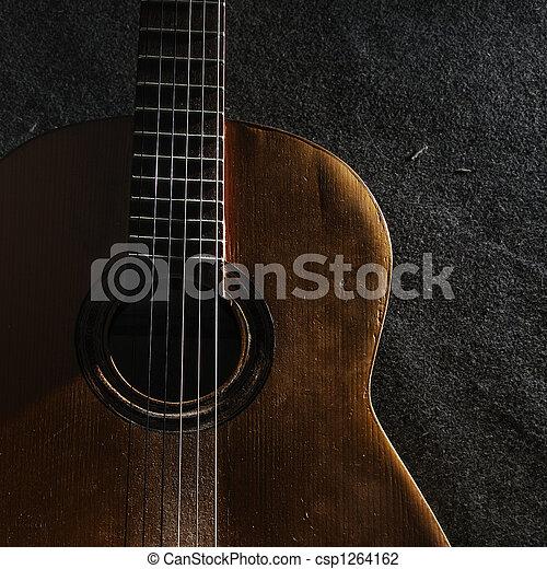 Guitar still life - csp1264162