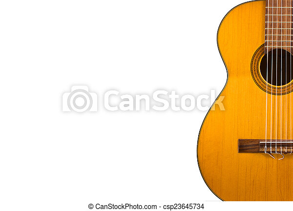 Guitar Wallpaper Isolated On White Background For Poster Design