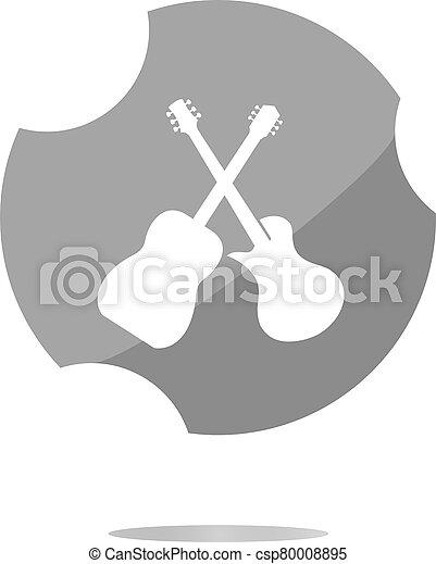Guitar web icon button isolated on white - csp80008895
