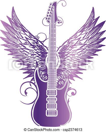 Guitar Wing Tribal - csp2374613
