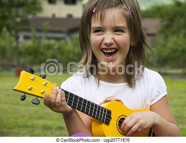 guitare, enfant - csp20771876