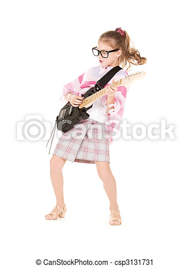 guitare, girl - csp3131731
