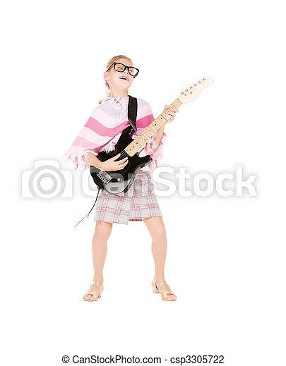 guitare, girl - csp3305722