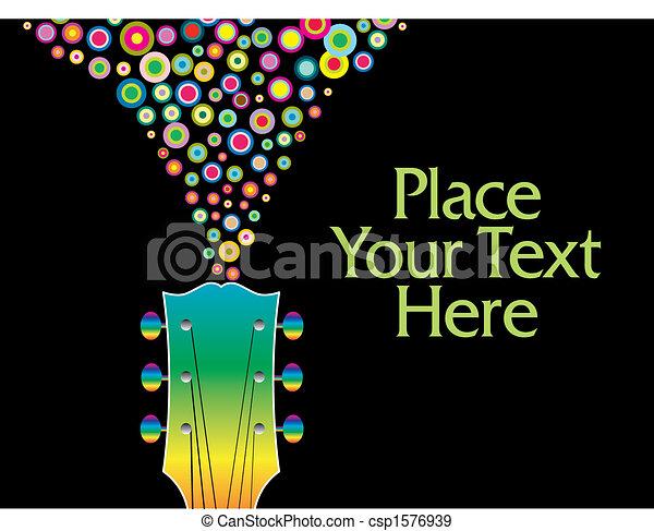 guitare, headstock, coloré - csp1576939