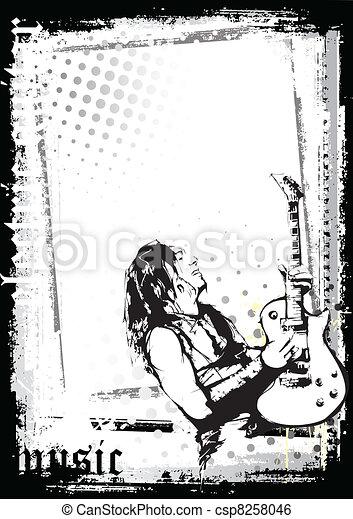 guitarist poster - csp8258046