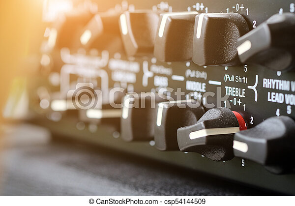 guitarra, amplificador - csp54144509