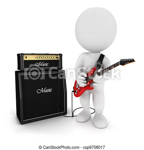 3 blancos guitarra eléctrica - csp9708017