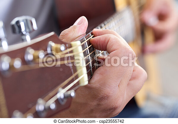 guitarra, cicatrizarse - csp23555742
