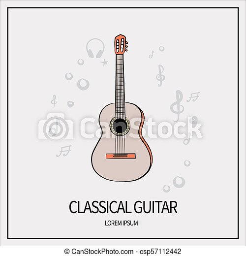 Guitarra Clásico Icono