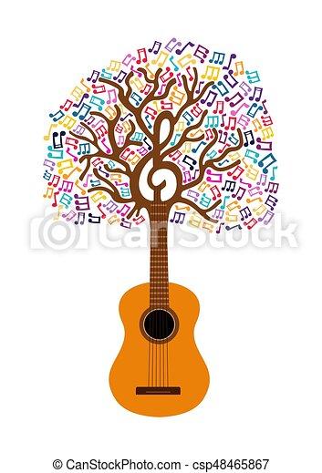 Ilustración conceptual del árbol de guitarra - csp48465867
