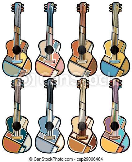 Guitar mosaicos - csp29006464