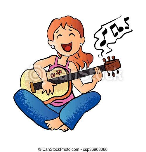Guitarra Ni 241 A Juego Guitarra Ni 241 A Vector Juego
