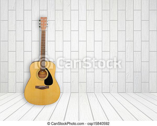 guitarra, quarto vazio, fundo - csp15840592