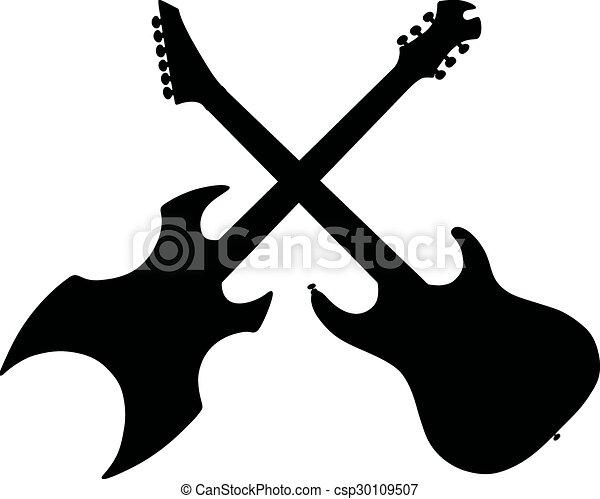 Guitarra Eléctrica Dibujo Manual De Guitarras Eléctricas