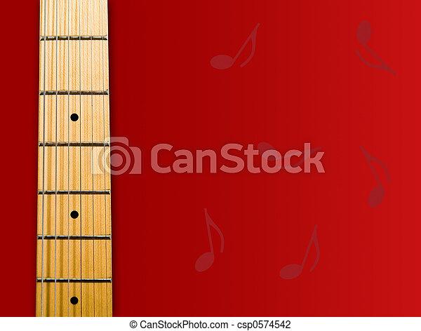 guitar's neck - csp0574542