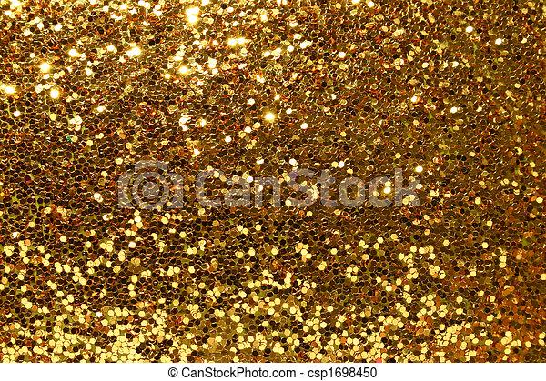 guld, bakgrund, glittrande - csp1698450