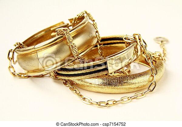 guld smycken, kvinnlig, armband - csp7154752