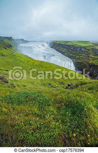 Gulfoss - golden falls. Icaland - csp17576394