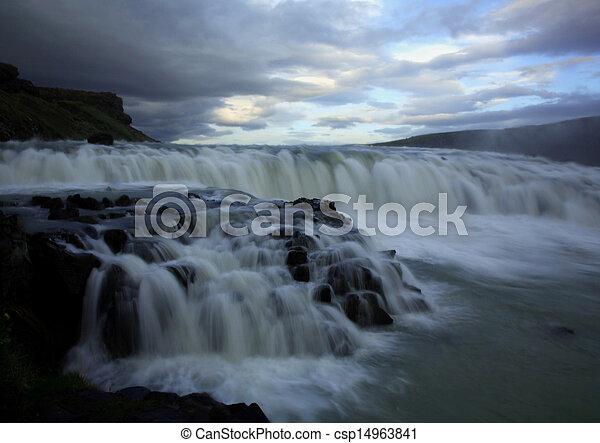 Gulfoss Iceland - csp14963841