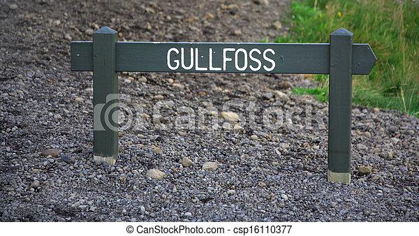 Gulfoss signpost - csp16110377