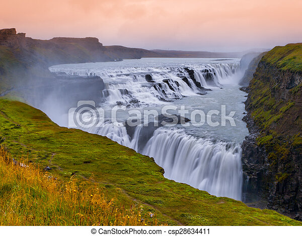 Gulfoss waterfall - csp28634411
