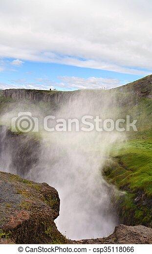 Gulfoss Waterfall - csp35118066