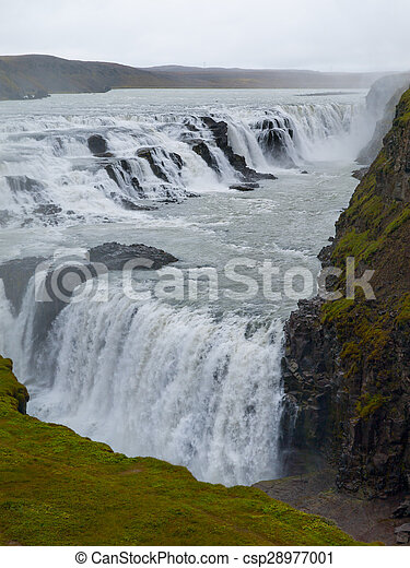 Gulfoss waterfall - csp28977001