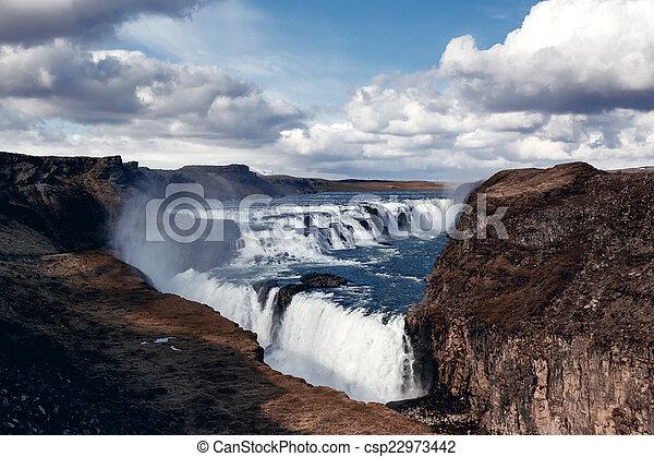 Gullfoss The Great Watefall, Iceland - csp22973442