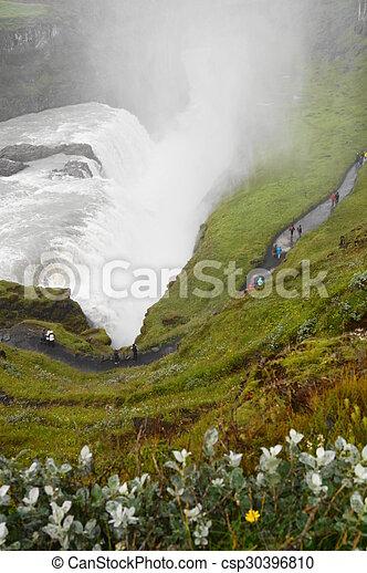 Gullfoss, waterfall in Iceland - csp30396810