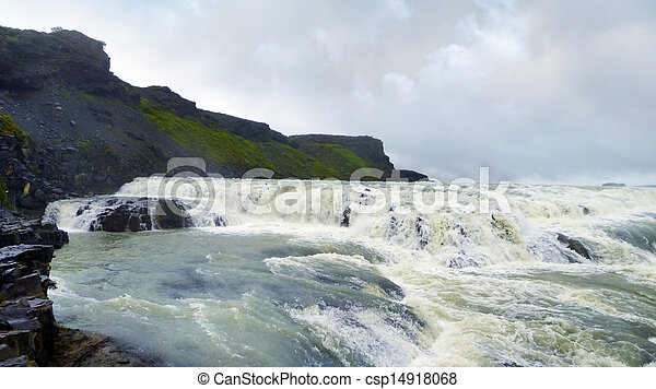 Gullfoss waterfall in Iceland - csp14918068