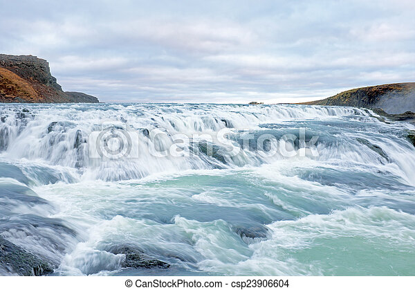 Gullfoss waterfall in Iceland - csp23906604